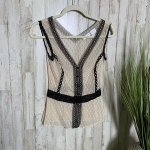 Worthington Mesh Blouse- Size M